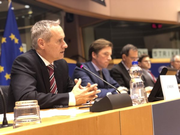 Juergen Wiese, Chairman of the EBAA at the European Parliament