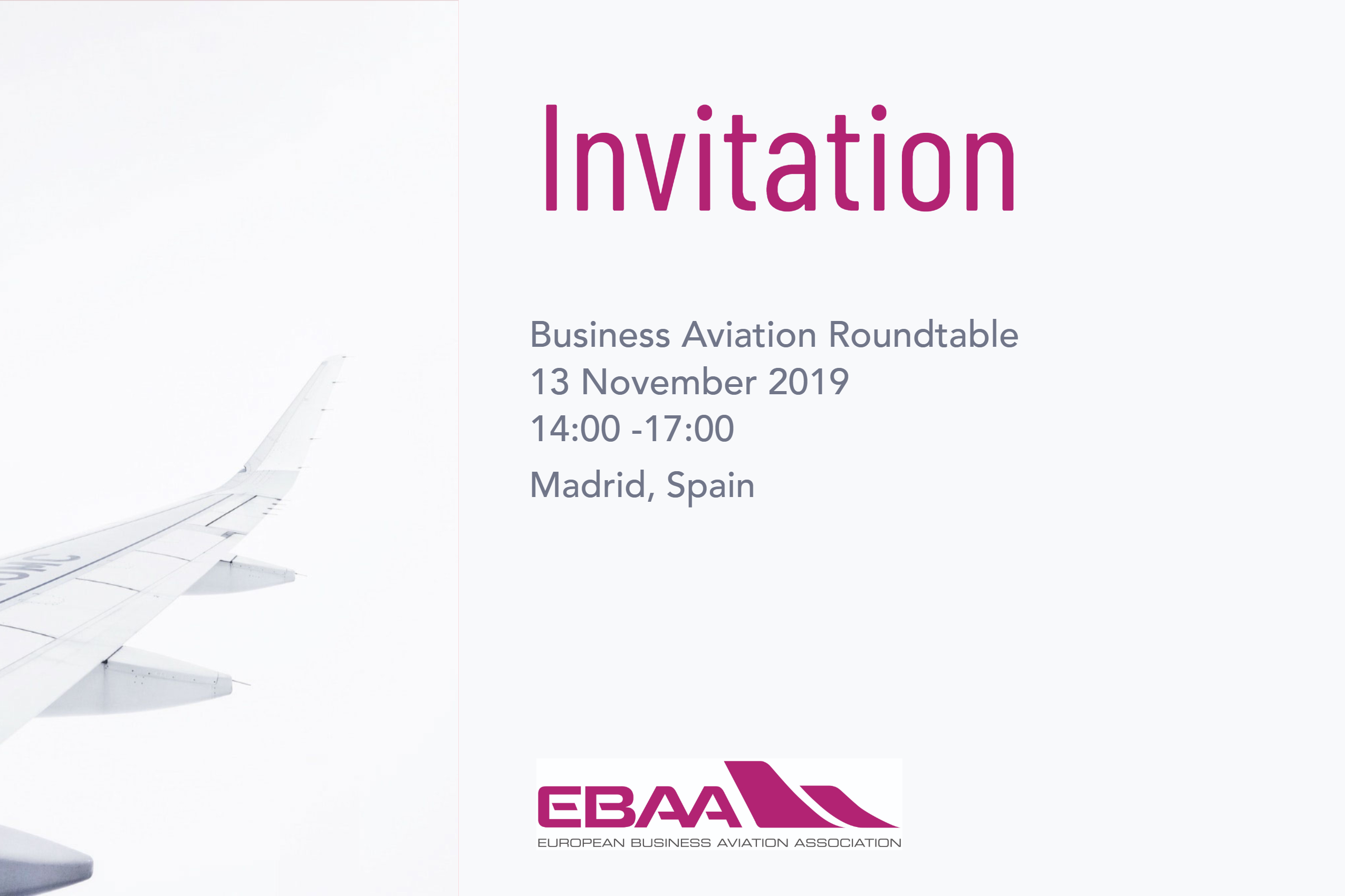 Business Aviation Roundtable Madrid